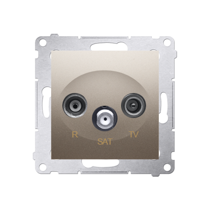 Kontakt Simon 54 Premium Zlatá Anténní zásuvka R-TV-SAT průběžná (modul), DASP.01/44