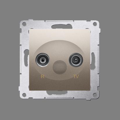 Kontakt Simon 54 Premium Zlatá Anténní zásuvka R-TV koncová oddělená (modul), DAK.01/44