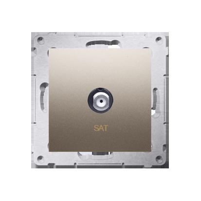 Kontakt Simon 54 Premium Zlatá Anténní zásuvka SAT jednonásobná (modul) DASF1.01/44