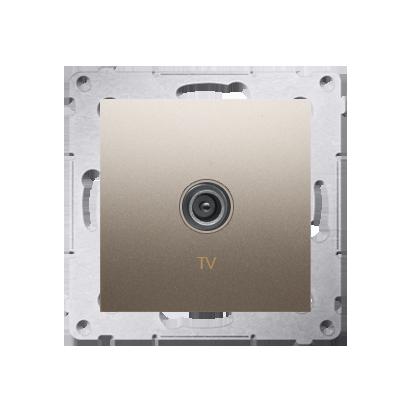 Kontakt Simon 54 Premium Zlatá Anténní zásuvka TV jednonásobná (modul) DAK1.01/44