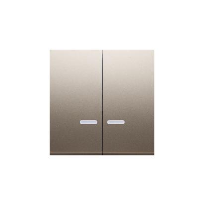 Kontakt Simon 54 Premium Zlatá Klávesy s čočkou pro vypínače/Dvojnásobná klávesa s podsvícením, DKW5L/44