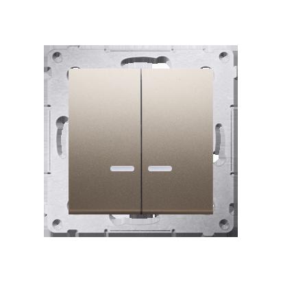 Kontakt Simon 54 Premium Zlatá Přepínač sériový s podsvícením LED, pro verzi IP44 DW5BL.01/44