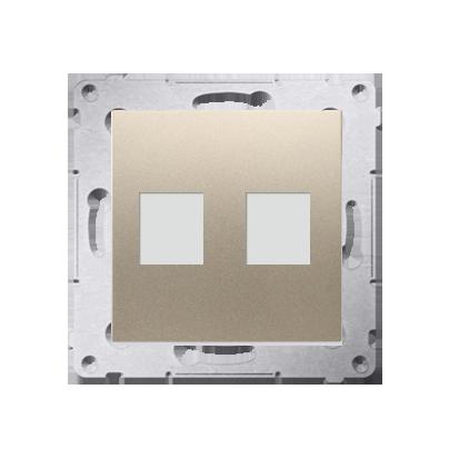 Kontakt Simon 54 Premium Zlatá Telekomunikační kryt zásuvky na Keystone plochá dvojnásobný (modul), DKP2.01/44