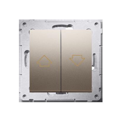 Kontakt Simon 54 Premium Zlatá Tlačítko ovládání žaluzií z více míst, šroubové koncovky, DZP1W.01/44