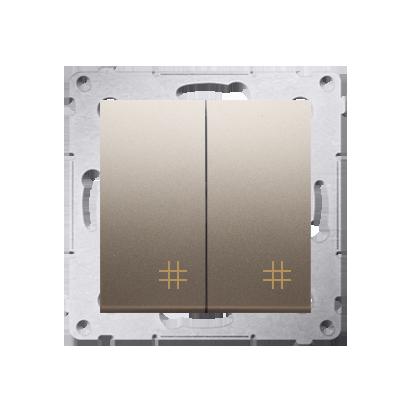 Kontakt Simon 54 Premium Zlatá Vypínač křížový dvojnásobný 2 klávesy (modul) ~, DW7/2.01/44