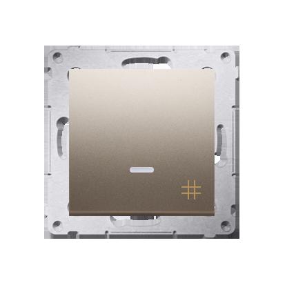 Kontakt Simon 54 Premium Zlatá Vypínač křížový s podsvícením LED (modul) rychlospojka, DW7L.01/44