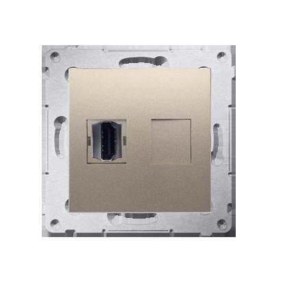 Kontakt Simon 54 Premium Zlatá Zásuvka HDMI (modul), DGHDMI.01/44