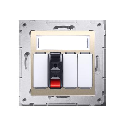 Kontakt Simon 54 Premium Zlatá Zásuvka reproduktoru 1-násobná s popisovým pólem (modul) DGL31.01/44