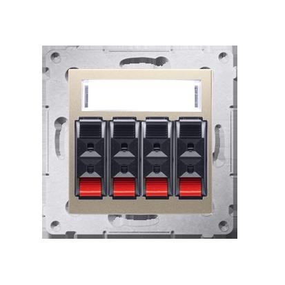 Kontakt Simon 54 Premium Zlatá Zásuvka reproduktoru 4-násobná s popisovým pólem (modul) DGL34.01/44