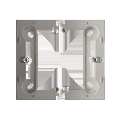 Krabice nástěnná hnebooká (40mm) skládaná, inox (kov) Kontakt Simon PSC/21