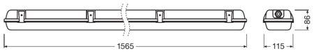 Lineární LED svítidlo 1500 2xLamp IP65 DAMP PROOF HOUSING LEDVANCE