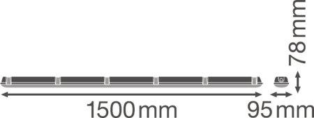 Lineární LED svítidlo 1500 55W 6500K IP65 DAMPPROOF LEDVANCE