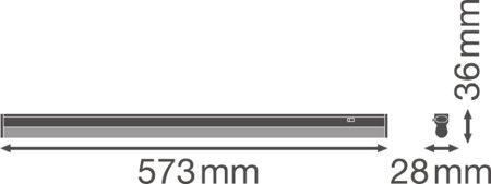 Lineární svítidlo LINEAR COMPACT SWITCH 600 8W 3000K LEDVANCE