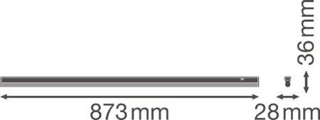 Lineární svítidlo LINEAR COMPACT SWITCH 900 12W 3000K LEDVANCE