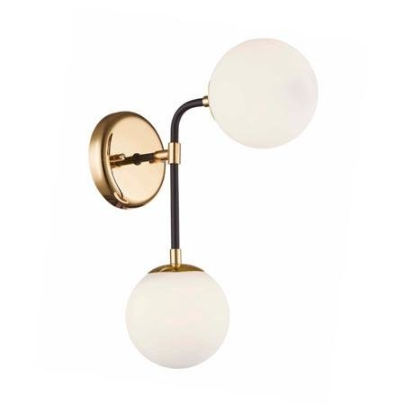 Nástěnná lampa zlatá dvě koule 2xG9 Zuma Line Riano Wall W0454-02A-SDAA