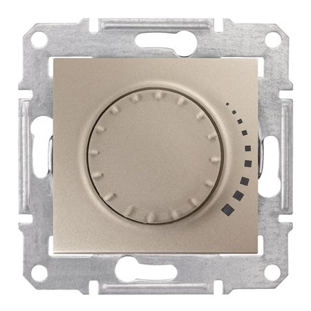 Otočný - tlačítkový stmívač saténová RC 25-325VA Sedna SDN2200768 Schneider Electric