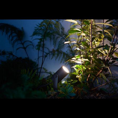 Philips Hue lampa vnější bodové černá Lily 8W White color ambiance 1742830P7