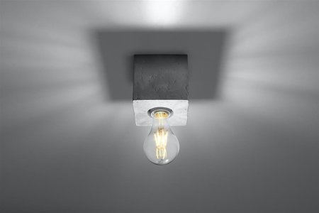 Plafon ABEL beton E27 SL.0681 Sollux