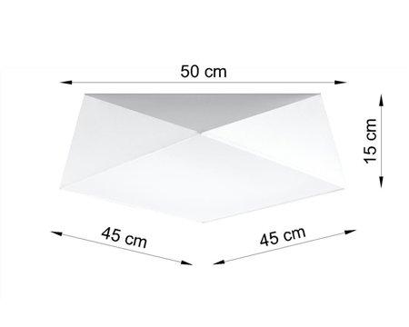 Plafon HEXA 45 bílá E27 SL.0692 Sollux