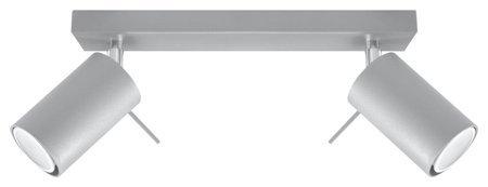 Plafon RING 2xGU10 šedá Sollux SL.0450