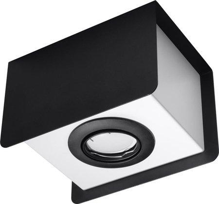 Plafon STEREO 1xGU10 černá Sollux SL.0409