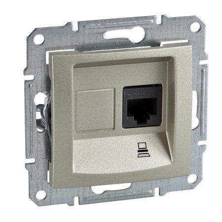 Počítačová zásuvka kategorie 5e stíněná saténová Sedna SDN4500168 Schneider Electric