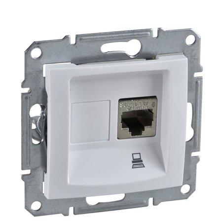 Počítačová zásuvka kategorie 6 bílá Sedna SDN4700121 Schneider Electric