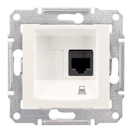 Počítačová zásuvka kategorie 6 krémová Sedna SDN4700123 Schneider Electric