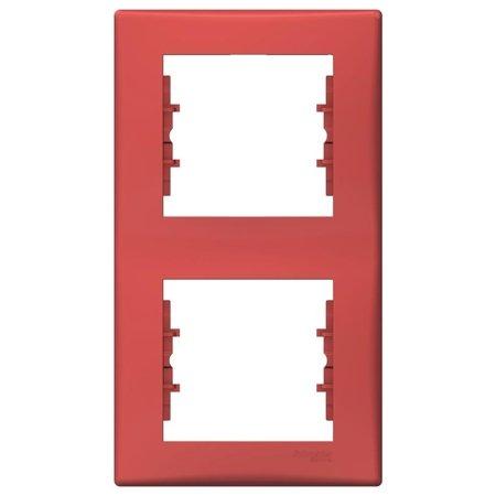 Rámeček 2-násobný svislý červená Sedna SDN5801141 Schneider Electric