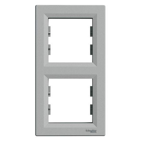 Rámeček 2-násobný svislý, hliník Schneider Electric Asfora EPH5810261