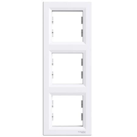 Rámeček 3-násobný svislý, bílá Schneider Electric Asfora EPH5810321