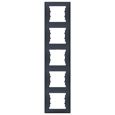 Rámeček 5-násobný svislý, grafitová Sedna SDN5801570 Schneider Electric