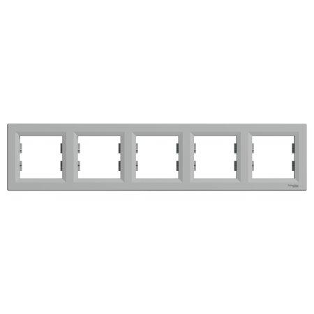 Rámeček 5-násobný vodorovný, hliník Schneider Electric Asfora EPH5800561
