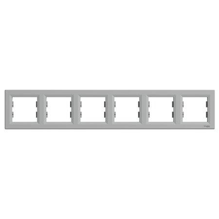 Rámeček 6-násobný vodorovný, hliník Schneider Electric Asfora EPH5800661