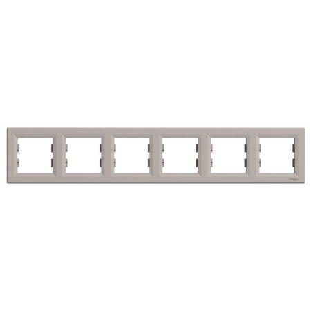 Rámeček 6-násobný vodorovný, hnědá Schneider Electric Asfora EPH5800669