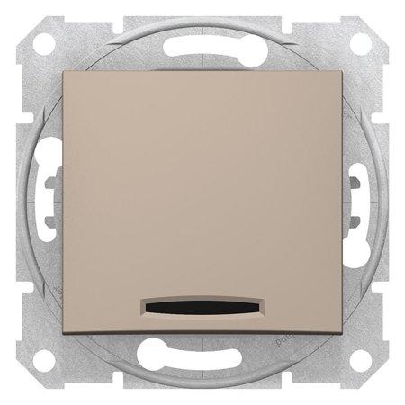 Schodišťové tlačítko s podsvícením saténová Sedna SDN1520168 Schneider Electric