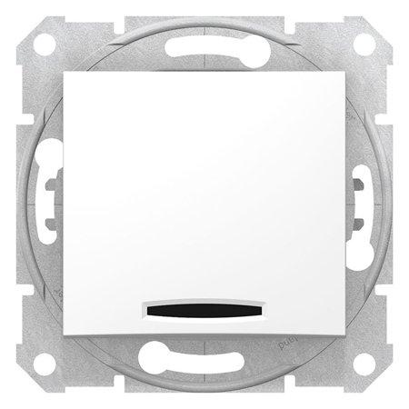 Schodišťový vypínač s podsvícením bílá Sedna SDN1500121 Schneider Electric