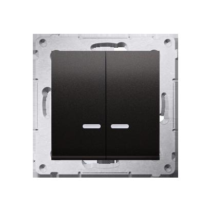 Simon 54 Premium Antracit Přepínač sériový s podsvícením LED, pro verzi IP44 DW5ABL.01/48