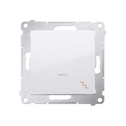 Simon 54 Premium Bílý Vypínač schodišťový s podsvícením LED (modul) X šroubové koncovky, DW6AL.01/11