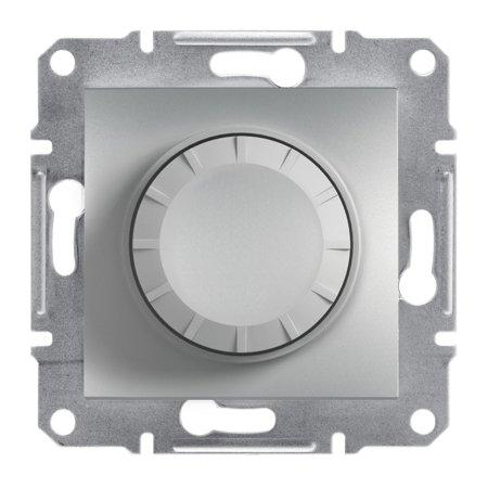 Stmívač RC (schodišťový vypínač) bez rámečku, hliník Schneider Electric Asfora EPH6600161
