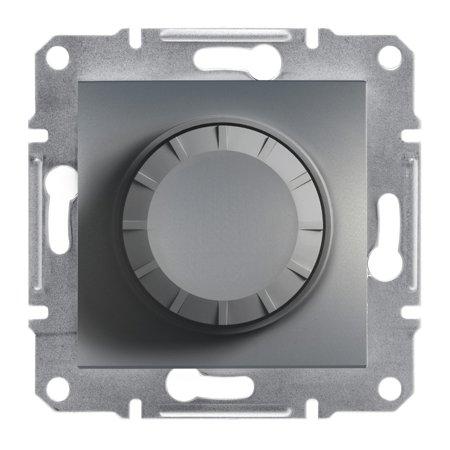 Stmívač RC (schodišťový vypínač) bez rámečku, ocel Schneider Electric Asfora EPH6600162