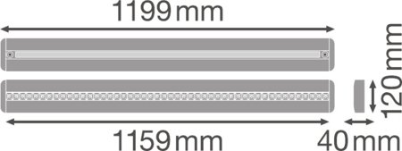 Stmívatelné svítidlo LINEAR IndiviLED DIRECT/INDIRECT DALI 1200 42W 400K LEDVANCE