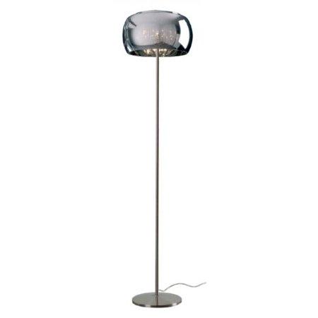 Stojací lampa transparentní stříbrná Zuma Line Crystal Floor F0076-04A-F4FZ