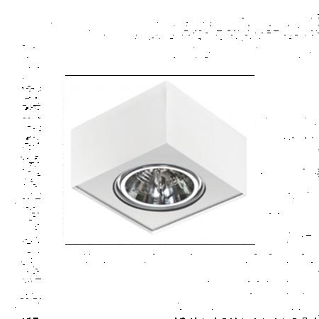 Stropní nástěnné svítidlo Paulo 1 12V bílá Azzardo GM4107
