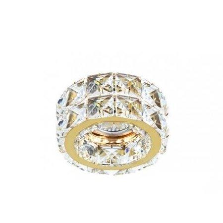 Stropní vestavné svítidlo Ester 2 zlatá Azzardo DM1000-2-GO