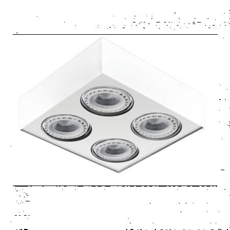 Svítidlo stropní Paulo 4 12V bílá Azzardo GM4400
