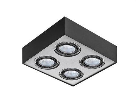 Svítidlo stropní Paulo 4 12V černá hliník Azzardo GM4400