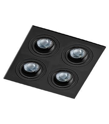 Svítidlo stropní podomítkové Carlo 4 černá Azzardo SN-6814S-BK