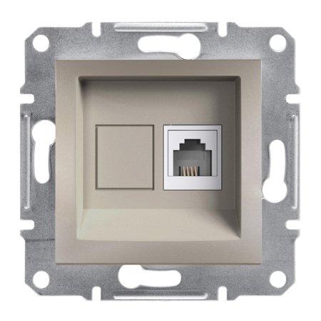 Telefonní zásuvka bez rámečku, hnědá Schneider Electric Asfora EPH4100169