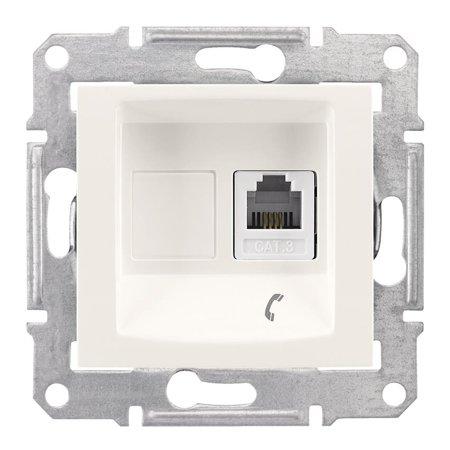 Telefonní zásuvka krémová Sedna SDN4101123 Schneider Electric